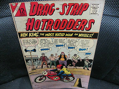 Silver Age comic Hot Rod Comic Book Drag Strip Hot Rodders by CDC VG++