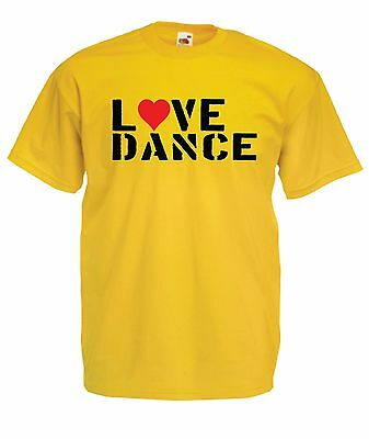 LOVE DANCE music clubbing ibiza tee New Mens Women T SHIRT TOP 8-16 s m l xl xxl