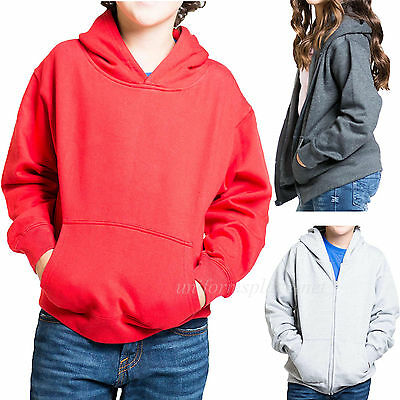 Kids Hooded Sweatshirt Unisex Boys Girls Hoodie PULLOVER / ZIPPER Fleece Sweater
