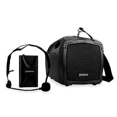 Super Adastra H25 Mobile Pa Boxe Mic Anlage Fussball Fans 30W Rms Usb Megaphone