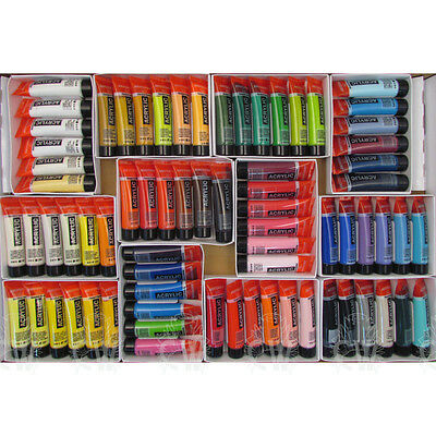 Royal Talens Amsterdam HUGE 72 Tube Acrylic Set Artists Paint Set