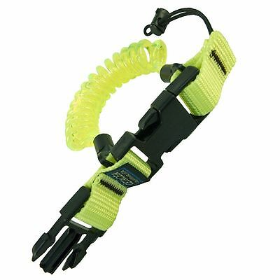 Cetacea - Divers YELLOW Coil Lanyard with Quick Release for Camera, Torch, Reel