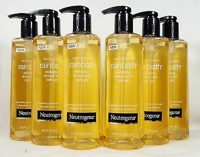 6 Neutrogena RAINBATH Revitaliving Shower Bath Gel GRAPEFRUIT Softens