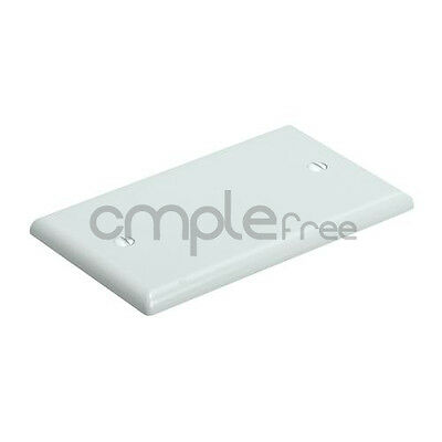 Blank 1 Gang Thermoplastic Wall Plate - White  Bendable Face Plate NEW