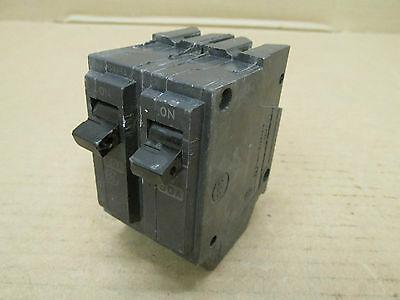 GE THQL THQL2150 Circuit Breaker 2 Pole 50 Amp 120/240 V General Electric Snap