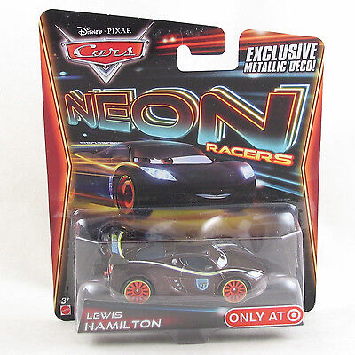 Disney Pixar Cars 2014 Neon Racers - Lewis Hamilton - exclusive metallic deco