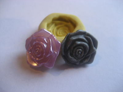 Flat flower lavender 17mm flexible silicone mold for fondant chocolate & more