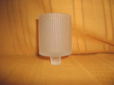 CRYSTAL FROSTED MODERN PEGGED VOTIVE  VTG HOME INTERIOR VOTIVE CUP CANDLE HOLDER
