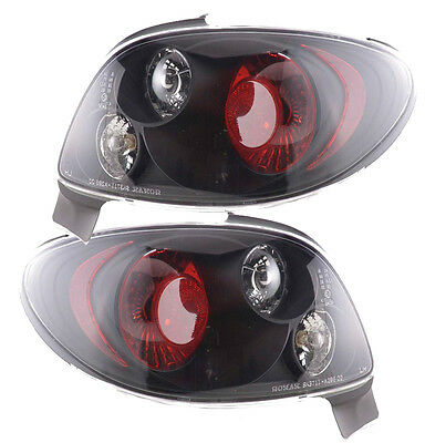 Peugeot 206 1998-2009 3 & 5 Door Hatch Black Lexus Rear Tail Lights Lamps Pair