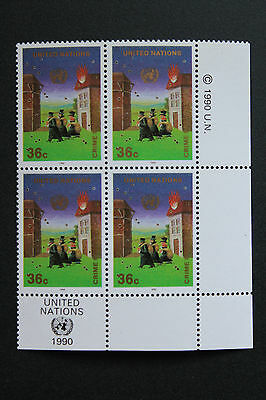 NATIONS-UNIS (New-York) timbre / stamp Yvert et Tellier n°577 x 4 n** (Cyn13)