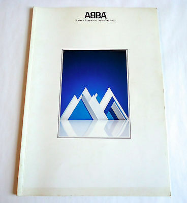 ABBA JAPAN TOUR 1980 CONCERT SOUVENIR PROGRAM BOOK Frida Agnetha Bjorn Benny