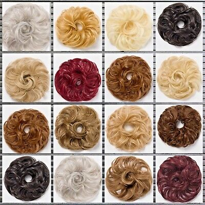Koko Hair Scrunchie Wrap Small / Medium Size  Messy Bun Updo Hairpiece Extension