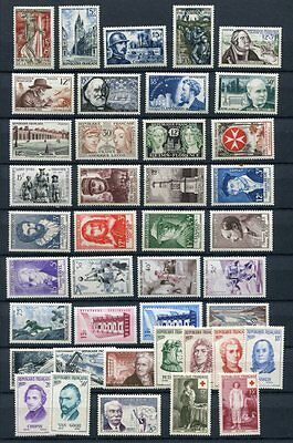 FRANCE 1956 MNH COMPLETE YEAR 41 Stamps Mi cat EURO 121