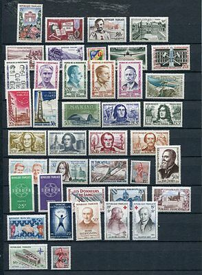 FRANCE 1959 MNH COMPLETE YEAR 41 Stamps Mi cat EURO 90