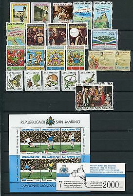 SAN MARINO 1990 MNH COMPLETE with Booklet 25 Items