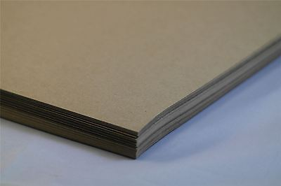 Eco Kraft Card Brown 170gsm 100% Recycled A4 A5 1 to 100 sheet packs