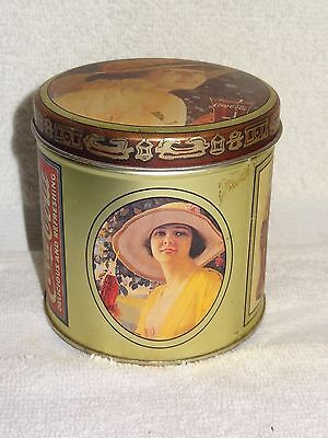 Drink Coca-Cola Delicious & Refreshing Vintage Woman Round Tin- 1984