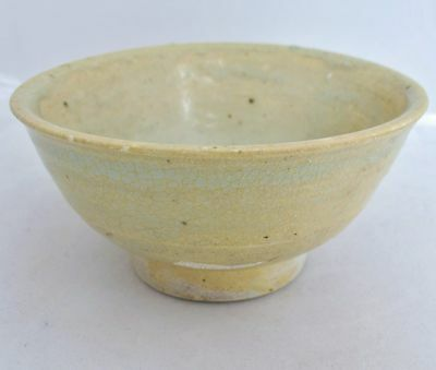 """SONG Dynasty ? Antique Chinese Celadon Green Glazed Pottery Tea Bowl  (4.95"""")"""