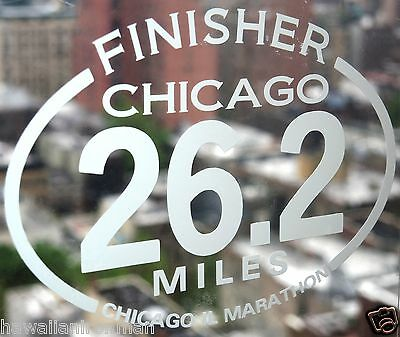 2013 any year CHICAGO Marathon IL Decal iPad,Luggage,Suit case,Car Window