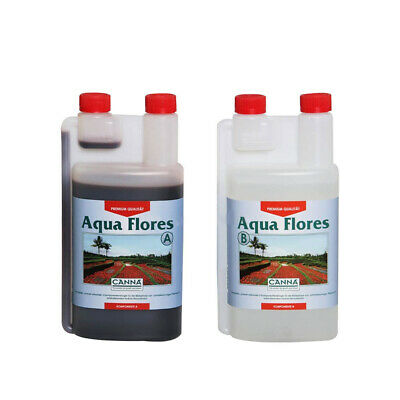 Canna Aqua Flores A+B - 2 x 1L Set | Hydroponics Base Nutrient | Recirculating S