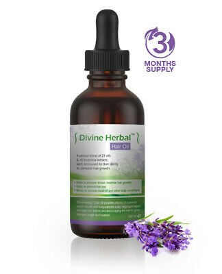 Divine Herbal Hair Oil for hair growth - helps to reduce hair loss & Alopecia