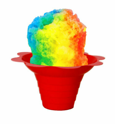 Flower Cups for Serving Shaved Ice or Snow Cones 4 oz, 500 Cups