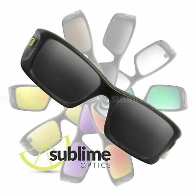 POLARIZED Black (Dark Grey) Replacement Lenses For Oakley Crankcase ~ charcoal