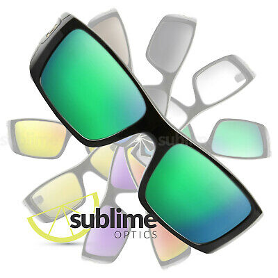POLARIZED Metallic Emerald Green Replacement Lenses For Oakley Fuel Cell ~ Jade