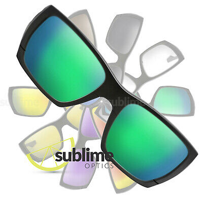 POLARIZED Metallic Emerald Green Replacement Lenses For Oakley Style Switch