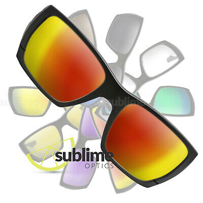 POLARIZED Metallic Fire Red Replacement Lenses For Oakley Style Switch