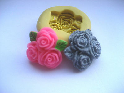 3 flower 21mm flexible silicone mold for fondant chocolate & more
