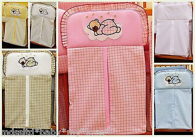BABY COT  NAPPY STACKER embroidered appliqués teddy bear and cloud in 5 COLOURS