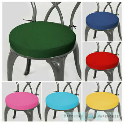 Round Garden Chair Cushion Pad ONLY Waterproof Outdoor Bistro Stool Patio Dining