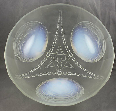 Sabino France Art Glass Large Sea Shell & Star Opalescent Bowl 10 1/4""
