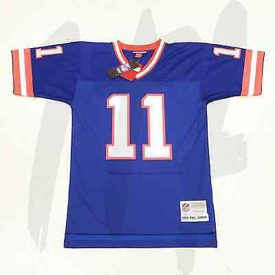 MITCHELL & NESS NFL TEAM THROWBACK JERSEY 1986 PHIL SIMMS 11 NEW YORK GIANTS
