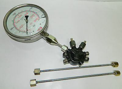 Spherical Common Fuel Rail with 2000 Bar High Pressure Gauge & High Pr. Pipes