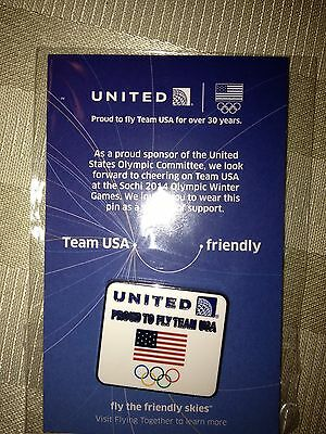 United Airlines Team USA 2014 Olympic Pin
