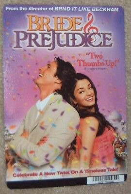 BRIDE & PREJUDICE movie backer card MARTIN HENDERSON this is NOT a dvd