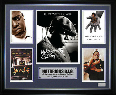 Notorious Big Signed Framed Memorabilia
