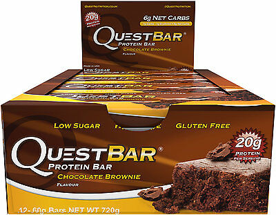 Quest Bar Chocolate Chip Cookie Dough - Low Carb (12 Bars) **BEST BY 11/2016**