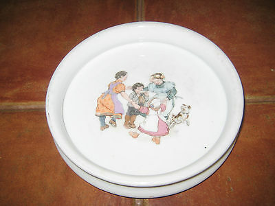 """Vintage Child's Bowl Three Crown China Germany Children Play Game Vintage 7.25"""""""