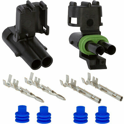 Weather Pack 2 Pin Connector Kit 12 GA