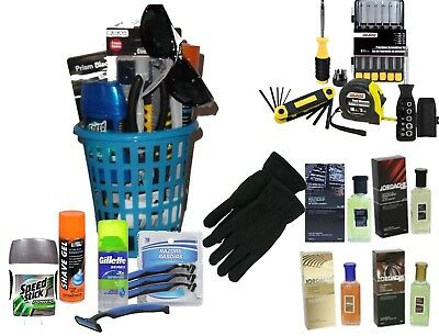 Working Guy Mens Gift Basket Cologne Shaving Tools Fathers Day Dads Birthday