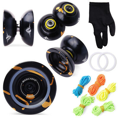 Magic YoYo N11 Aluminum Alloy Professional Yo-Yo+5x Strings+Glove TH011