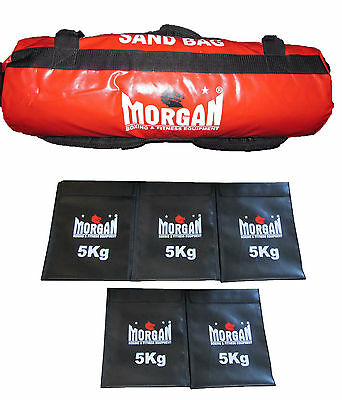Morgan Sand Bag Crossfit Strength Training Weights Refillable  25 kg