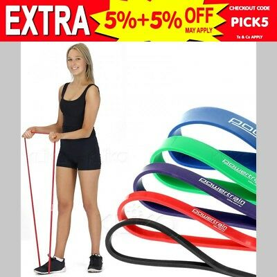 Heavy Duty Resistance Bands Set Of 5 Power Gym Fitness Exercise Yoga Workout
