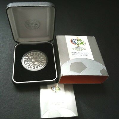2006 FIFA WORLD CUP 1oz HOLEY DOLLAR SILVER PROOF COIN