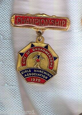 #D70. 1970 Marching Girls Broadmedows  Championship Prize Medal