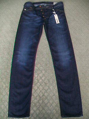 4a30b48a NEW MEN'S DIESEL Koolter Regular Slim Tapered Jeans OR33B Stretch ...