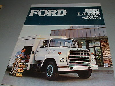 1980 FORD TRUCKS Sales Brochure, L-LINE, 600 through 7000 Series Big Ford Trucks